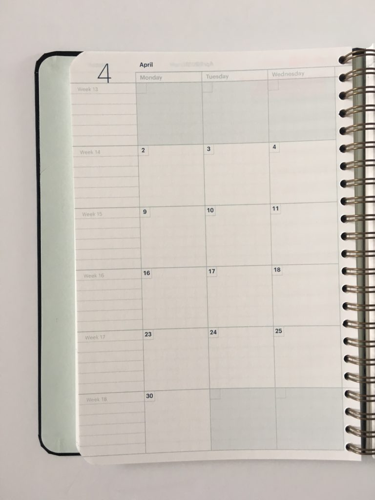 mossery personalised planner review 2 page monthly calendar monday start pros and cons video flipthrough a5 graph paper
