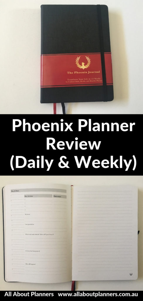 phoenix planner review undated daily weekly monthly pros and cons video gender neutral goal setting