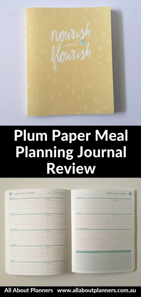 plum paper meal planning journal review video pros and cons nourish take out menu family meals