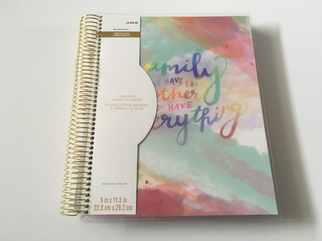 recollections family planner review pros and cons coil bound rainbow