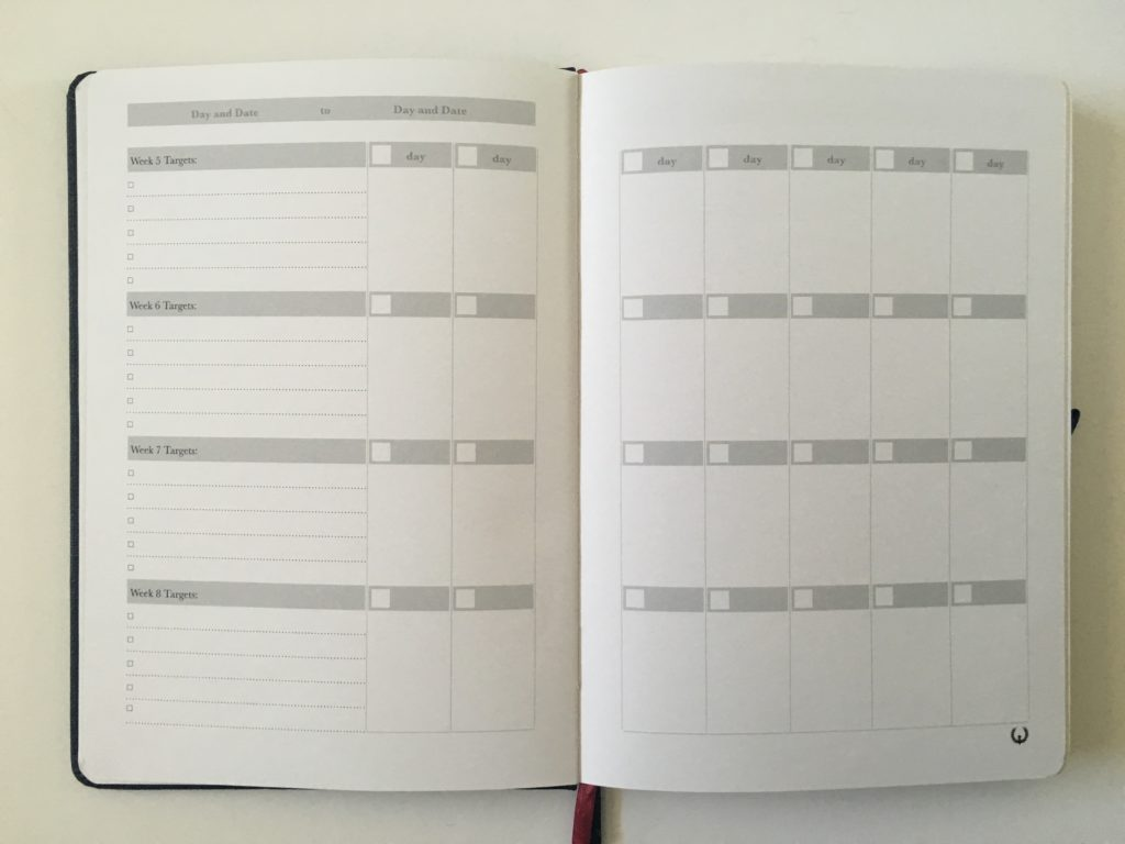 the phoenix journal planner review daily 2 pages weekly monthly undated 12 week goal planner perpetual weekly goals