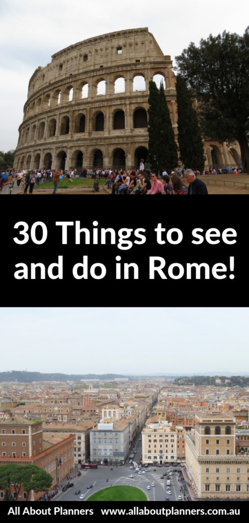 30 things to see and do in rome itinerary tips first time guide photo spot