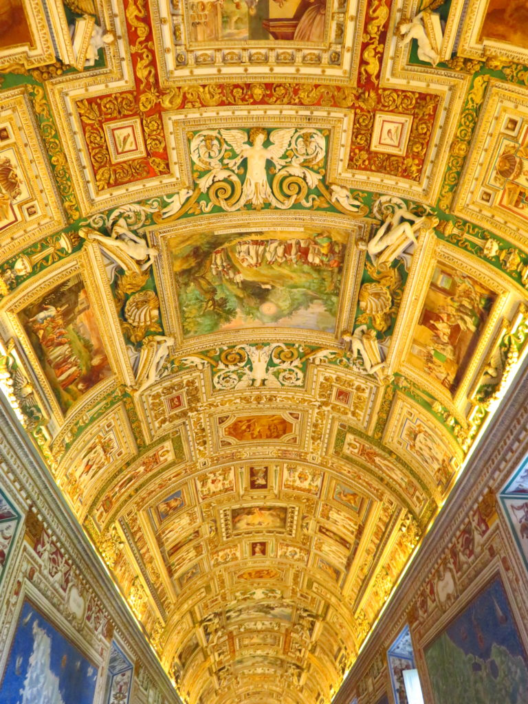 vatican gold ceiling italy