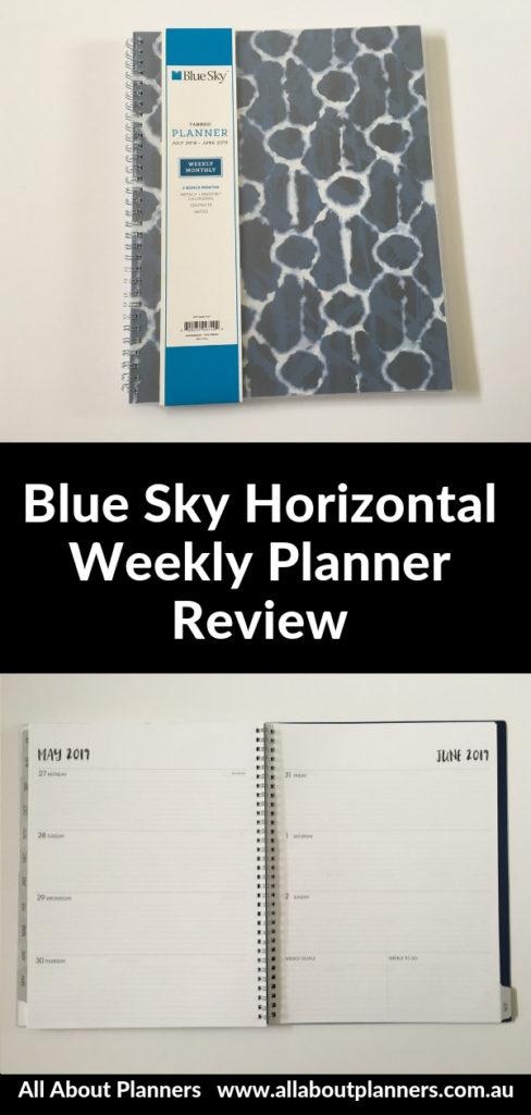 blue sky horizontal weekly planner review pros cons video lined minimlist letter size