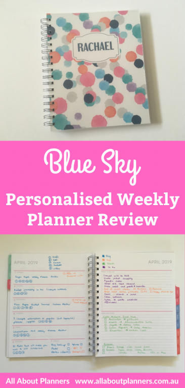 blue sky personalised weekly planner review pros and cons video flipthrough pen test paper quality