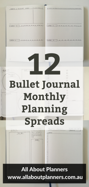 bullet journal monthly planning spreads layout ideas inspiration quick setup in 5 minutes or less all about planners