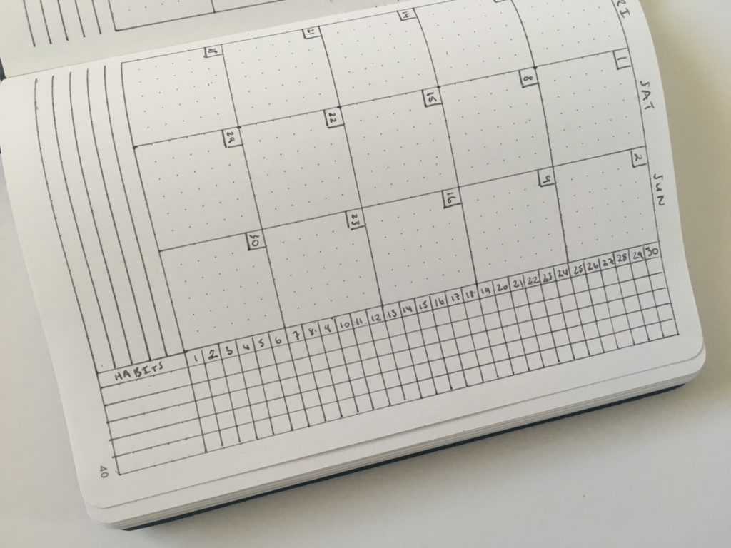 bullet journal monthly spread calendar functional minimalist ideas pros and cons tips layouts bujo quick simple easy