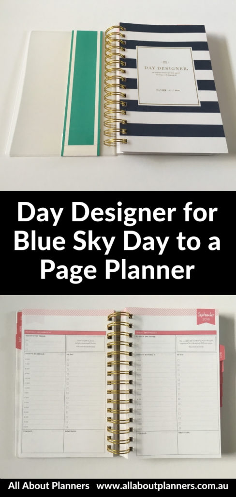 day designer for blue sky day to a page daily planner review pros and cons video
