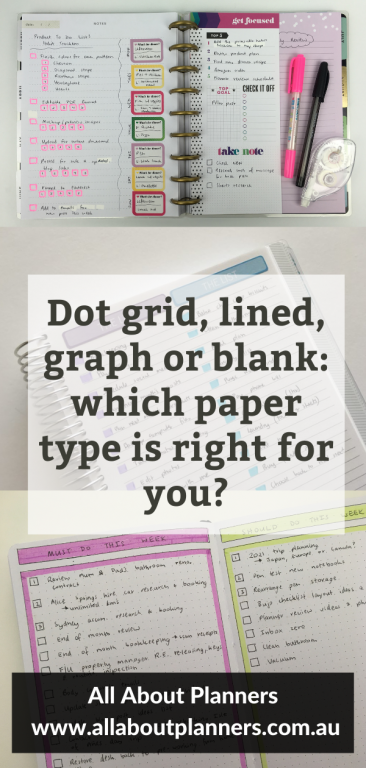 dot grid graph lined or blank which paper type is right for you all about planners tips newbie bullet journaling setup how to choose a notebook