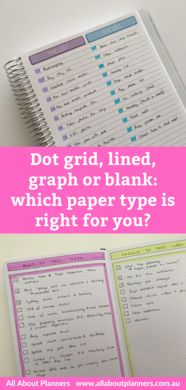 dot grid graph lined or blank which paper type is right for you all about planners tips newbie bullet journaling setup how to choose a notebook bujo