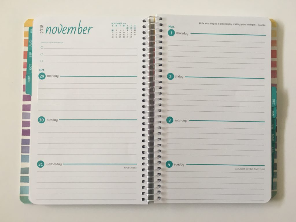 global printed products horizontal weekly planner monday start simple affordable colorful