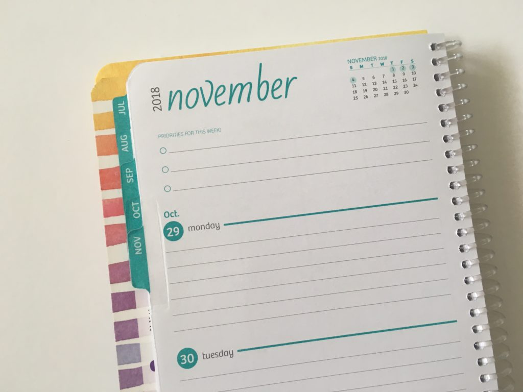 global printed products planner review monday start colorful lined pros and cons video