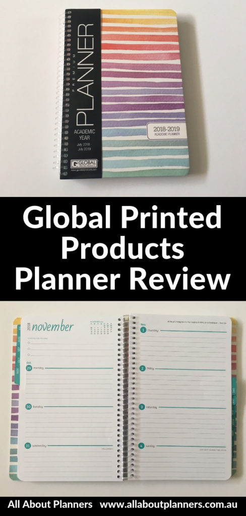 global printed products weekly planner review pros cons simple horizontal a5 size cheap affordable