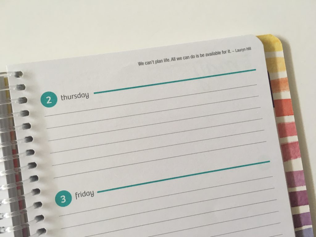 horizontal weekly planner simple functional school lightweight monday start lined writing space 2 page weekly spread
