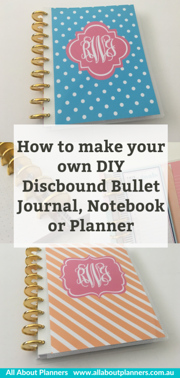 how to make a diy discbound bullet journal notebook or planner refillable pages custom personalised