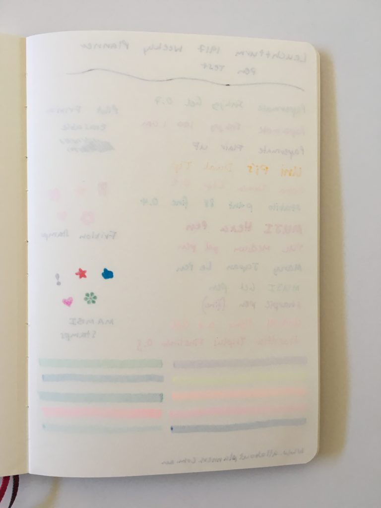 leuchtturm weekly planner review monday start horizontal paper quality pen test ghosting bleed through highlighter stamp fine tip gel pros and cons