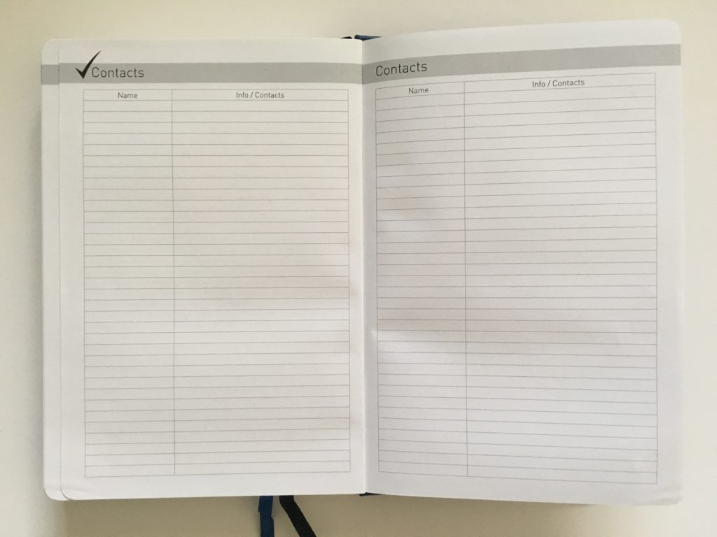 lion planner contacts pages pros and cons minimalist gender neutral