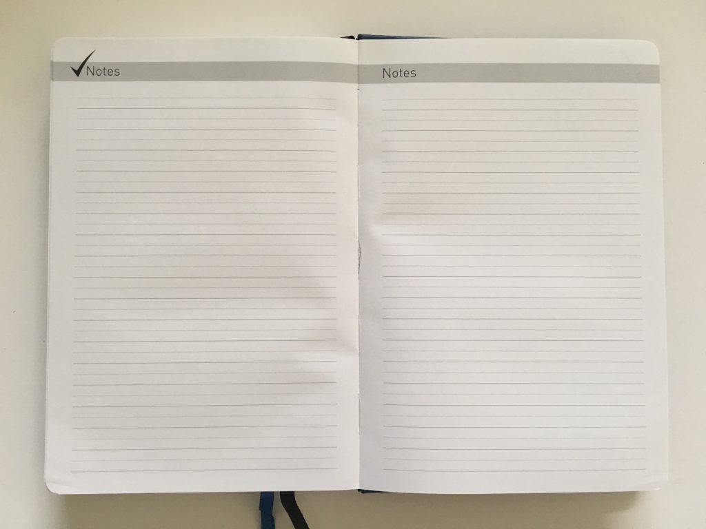 lion planner review notes page lined bright white paper sewn bound undated daily weekly