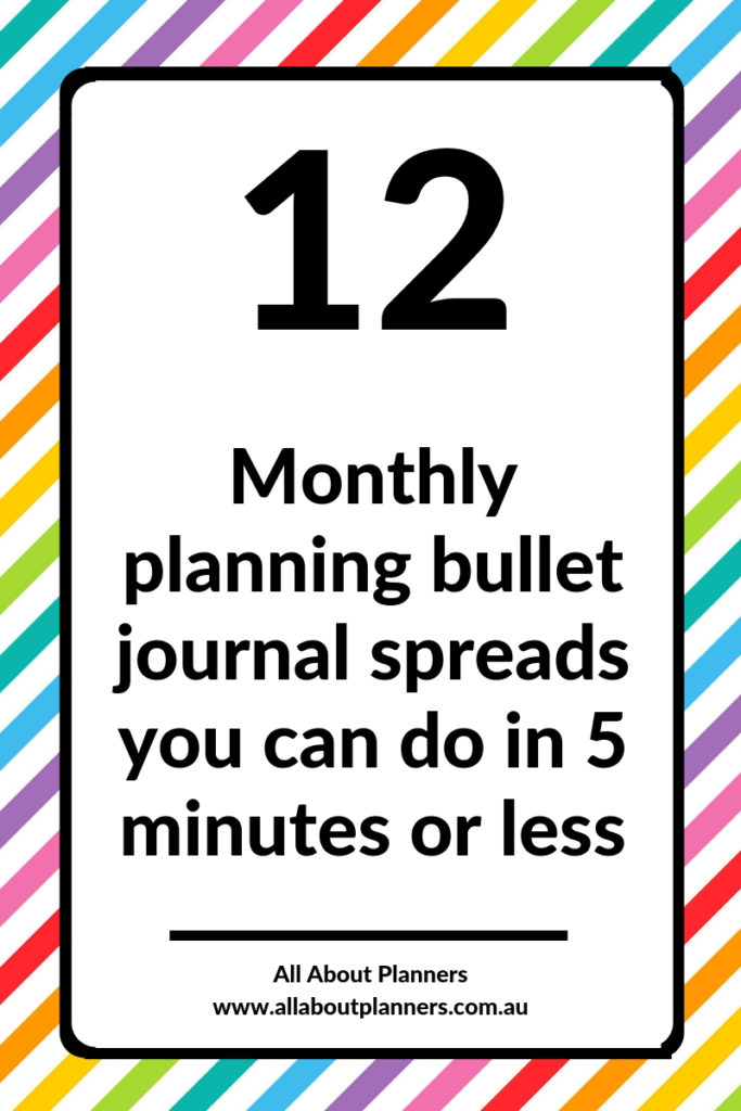 monthly planning bullet journal spread ideas inspiration layout tips simple quick easy 5 minutes or less