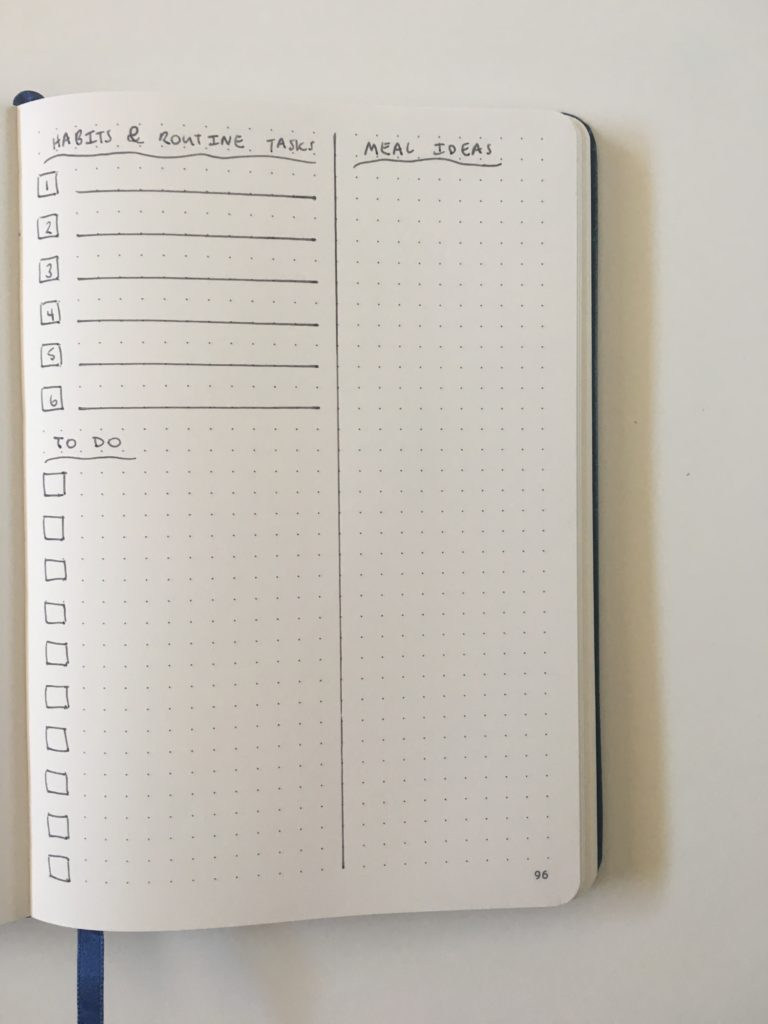 monthly planning spreads for your bullet journal layout simple quick 5 minutes or less