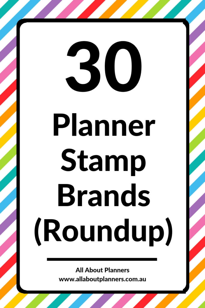 planner stamp brand roundup tips inspiration ideas planning supplies tools favorite best first time planner spread inspo tips