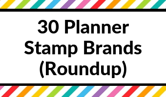 planner stamp brand roundup tips inspiration ideas planning supplies tools favorite best first time planner spread inspo