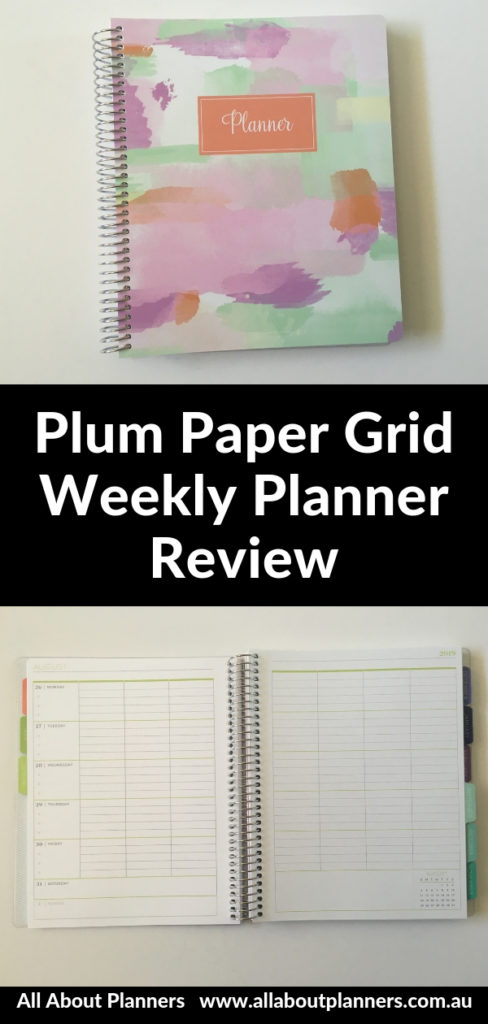 plum paper grid weekly layout review pros and cons simple minimalist colorful pen testing teacher student video