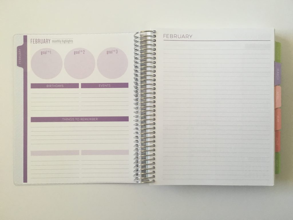 plum paper monthly notes page pros and cons paper quality pen test colorful personalised affordable planner