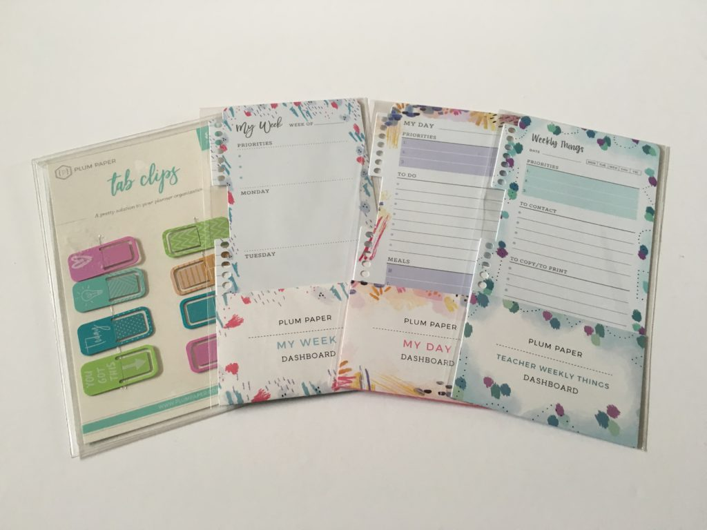 plum paper planner dashboard review insert bookmark page marker dry erase reusable teacher daily