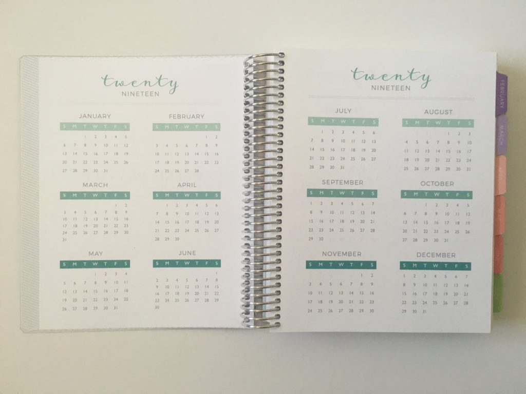 plum paper planner dates at a glance colorful version video review pros and cons