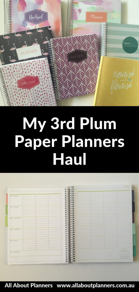 plum paper planners haul review weekly meal planning journal vertical horizontal bullet journal dot grid