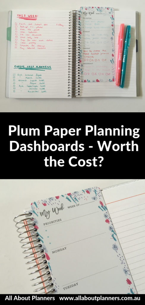plum paper planning dashboards worth the money pen test reusable planner accessory