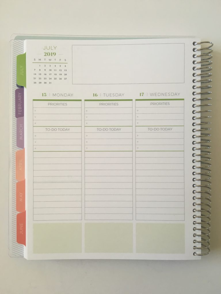 plum paper vertical priorities planner review monday start college school planner