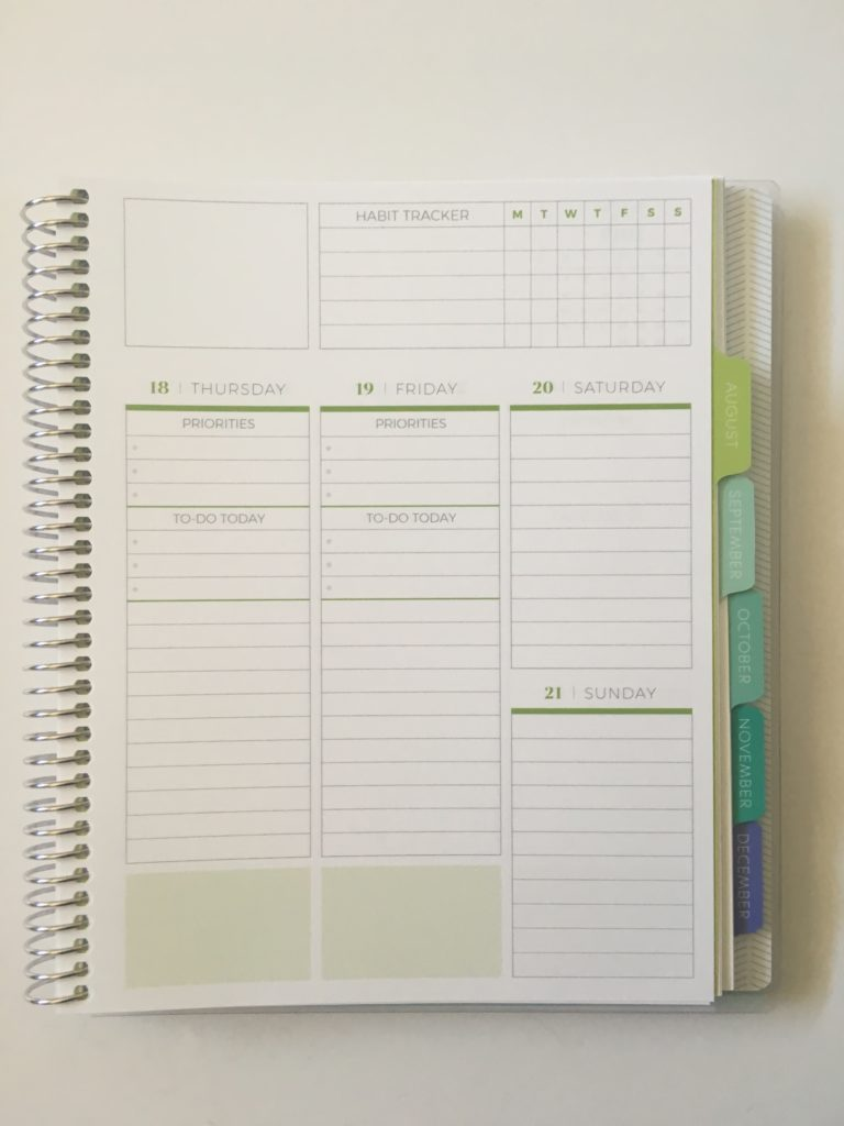 plum paper vertical priorities planner review monday start college school planner personalisd custom