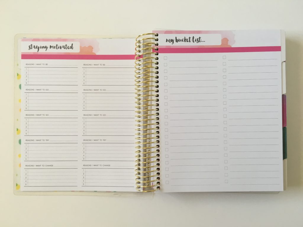recollections weekly planner bucket list colorful goals undated start planning anytime