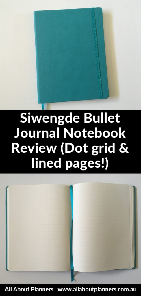 siwengde dot grid notebook large page size lined colorful sewn bound review pros and cons pen test