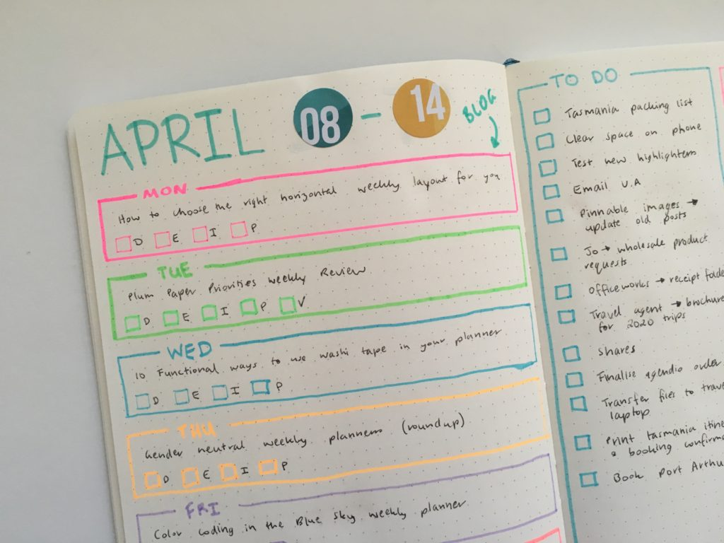 2 page bullet journal planner spread monday start horizontal 1 page layout planner tips horizontal 1 page weekly spread bullet journal simple minimalist colorful