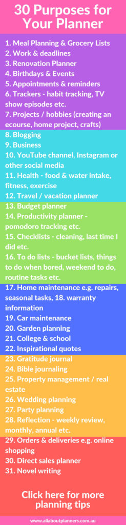 30 purposes for your planner how to choose a planner best planner tips ideas inspiration uses things to track inspo