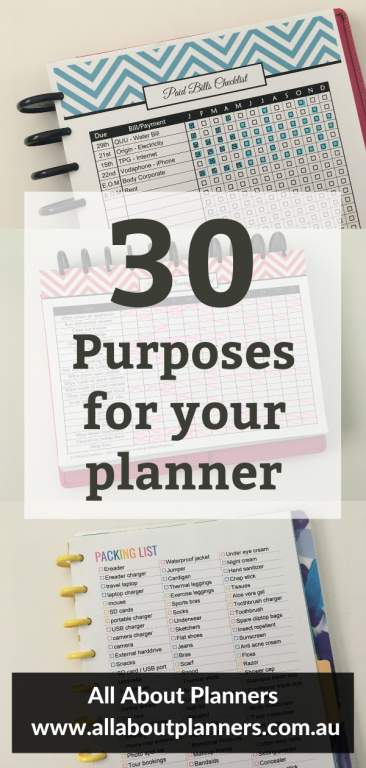 30 purposes for your planner how to use your planner setting up a new planner what to put in a planner daily weekly monthly inspiration ideas spreads useful functional