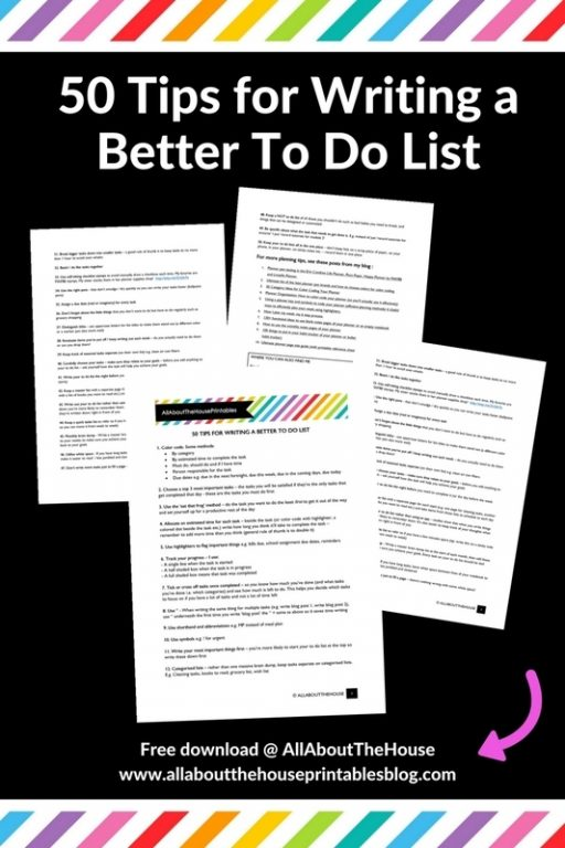50 tips for writing a better to do list