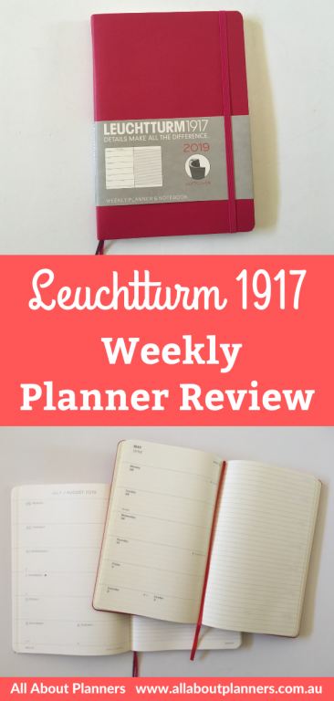 Leuchtturm 1917 weekly planner review and comparison with the moleskine dashboard weekly spread monday week start lined notes page softcover
