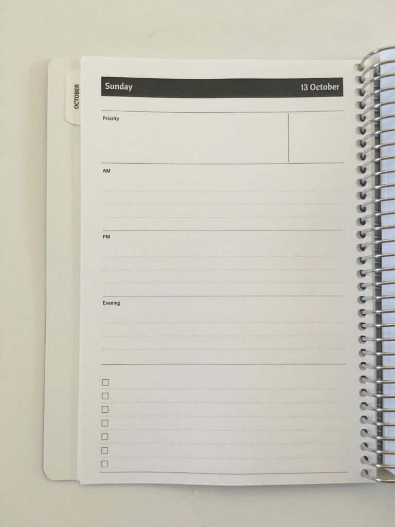 agendio daily planner review cover custom personalised day to a page neutral a5 page size am pm evening checklist horizontal lined