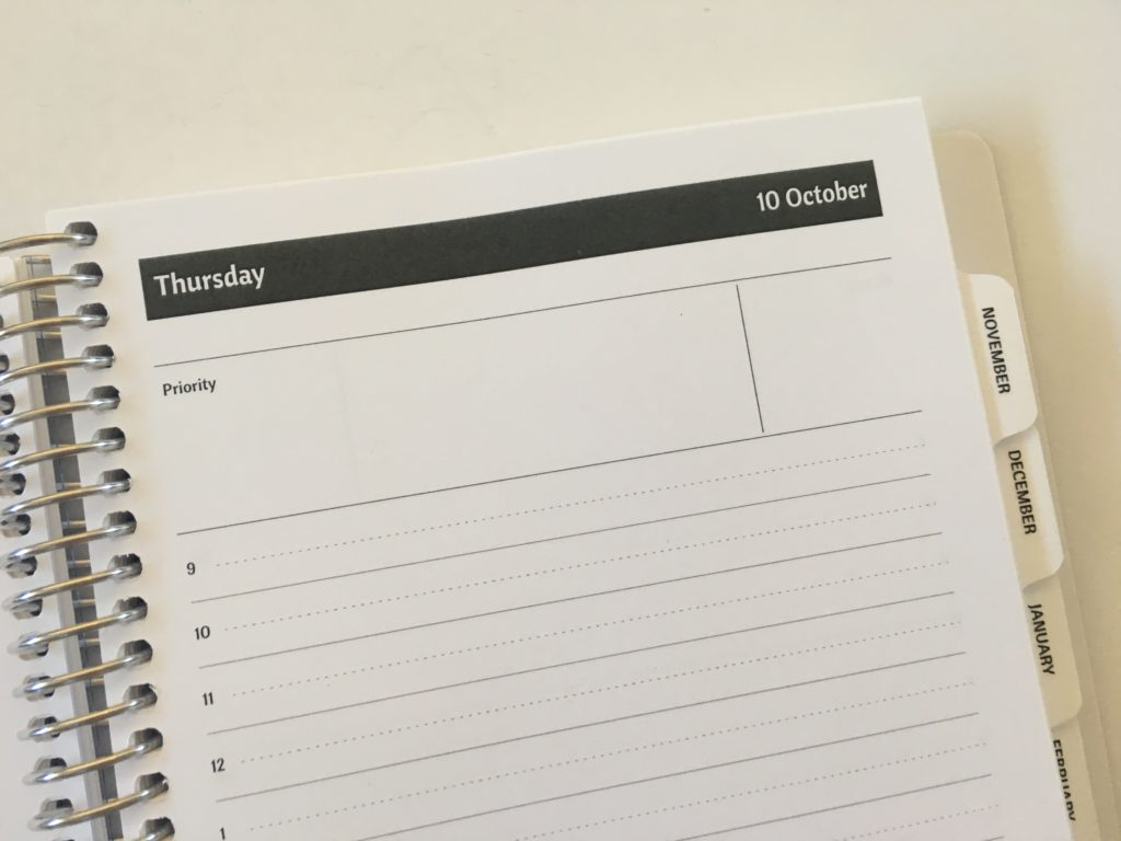 agendio daily planner review hourly 9am to 6pm horizontal lined a5 page size neutral custom personalised pros and cons video pen test simple