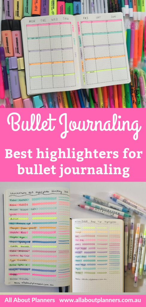 best highlighters for bullet journaling tip recommendation swatches dual tip chisel affordable mildliner newbie planner supplies