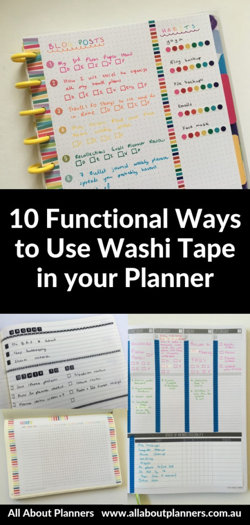 functional ways to use washi tape in your planner decorating page marker adding printables to bullet journal tips