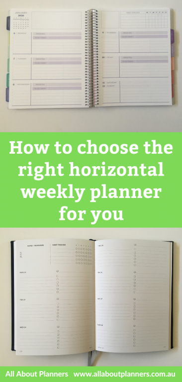 how to choose the right horizontal weekly planner for you tips inspiration ideas review pros and cons dashboard checklist hourly recommendations