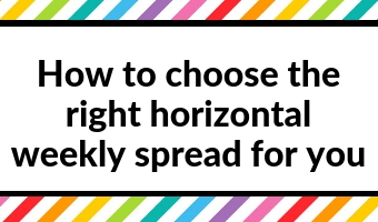how to choose the right horizontal weekly spread for your planner days of the week sunday start bullet journal hourly layout diy