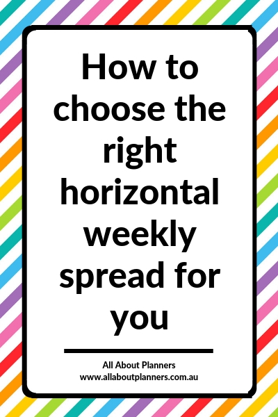 how to choose the right horizontal weekly spread perfect planner finding planner peace things to check hourly sidebar