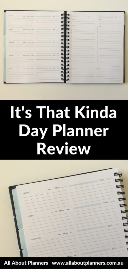 its that kinda day planner review work personal functional horizontal simple minimalist lined pros and cons video