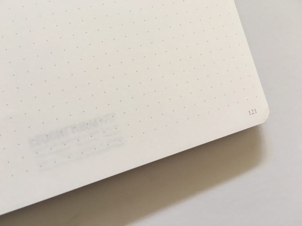 leuchtturm slim dot grid notebook review pen test pros and cons bujo medium size softcover gender neutral numbered pages